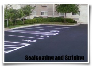 Photo of a Naples sealcoating project