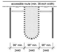 Handicap Parking Line striping for vans